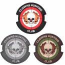 Emblem 3D Rubber Patch Clowns Hunting Club