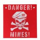 Warn-Schild  Danger! Mines!  30 x 30 cm