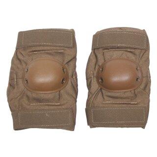 US Ellenbogenschützer aus Spezialschaum, Farbe: khaki,  Zustand: gebraucht