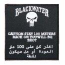 Stoff-Emblem Blackwater 100 Meter mit Klett