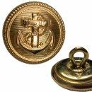 Uniformknopf Marine 17 mm Farbe: gold (2 Stück)