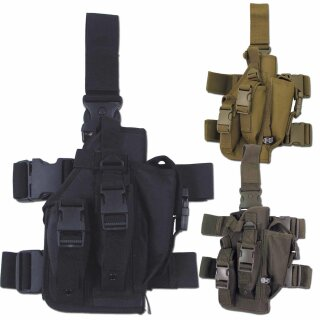 Pistolen-Beinholster mit Bein- und Gürtelbefestigung (rechts) von MFH