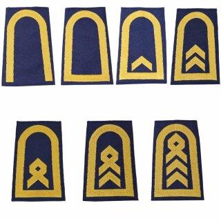 Rangschlaufen für Schulterklappen (Marine) für die Deutsche Bundeswehr, blau mit goldenem Stick