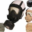 Pol. Schutzmaske Gasmaske MP5 (schwarz oder khaki) oder...