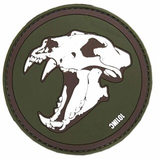 Emblem 3D PVC Sabertooth Tiger grün-braun