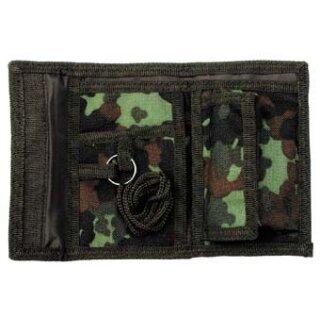 Geldbörse aus Nylon, flecktarn, mit Klettverschluß