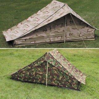 Einmann-Zelt mit Boden der Holländischen Armee, Zustand: gebraucht
