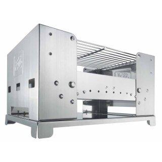Edelstahl-Kohlegrill BBQ-Box von ESBIT®