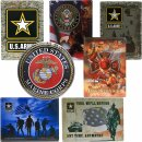 Metall-Platte U.S.Army oder Firefighters