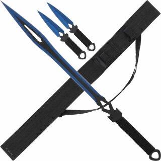 Rückenschwert mit 2 Wurfmessern von Haller (Verkauf ab 18 Jahren)