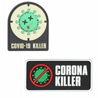 Emblem 3D Rubber Fun-Patch Corona Killer