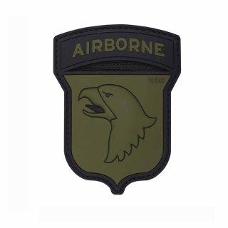 Patch 3D PVC Airborne 101st Farbe: oliv-schwarz