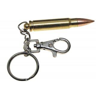 Patronen-Schlüsselanhänger von MFH mit Karabiner