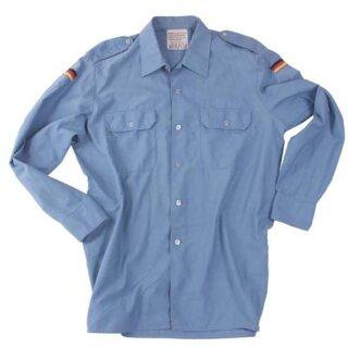 Original Marinehemd, mittelblau, langärmelig, gebraucht