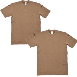 Tropen-Unterhemd der Bundeswehr mit Hoheitsabzeichen, Farbe: khaki, Zustand: gebraucht