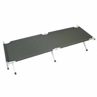 US Feldbett von MFH  (Alu) Farbe: oliv -extra lang- 200 x 65 x 40 cm belastbar bis max. 120 kg