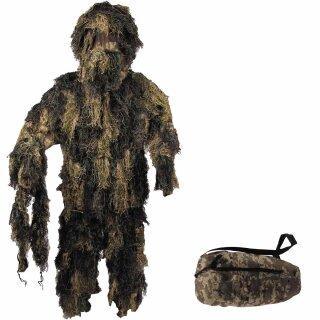 Tarnanzug Ghillie Suit von MFH 4-teilig, Farbe: woodland