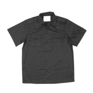 Hemd  US-Style, kurzarm, Farbe: schwarz