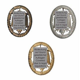 Original Bundeswehr Leistungsabzeichen Bronze, Silber oder Gold aus Metall