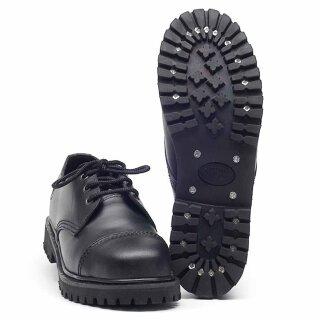 """Stiefel """"Knightbridge-Shoes  3-Loch"""" mit Stahlkappe schwarz neu"""