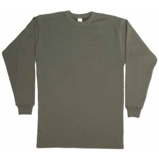 Plüsch-Unterhemd von Leo Köhler langarm Farbe: oliv