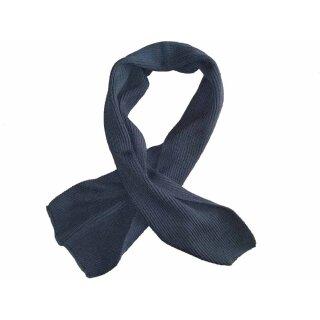 Strick-Schal aus ehemaligem Polizeibestand ca. 120 x 25 cm blaugrau