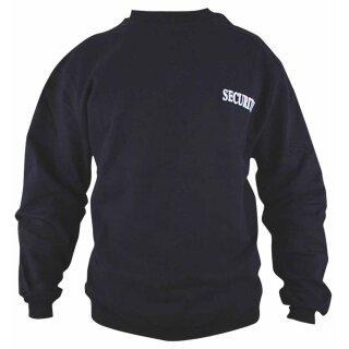 Sweatshirt mit Securityaufdruck im Brust und Rückenbereich