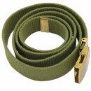 Stoffgürtel der Schwedischen Armee (Breite 32 mm) Farbe: oliv Zustand: gebraucht